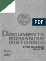 B, 22, Documenta Romaniae Historica, Țara Românească, 1628-1629