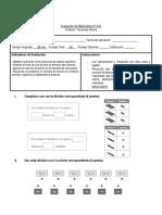 Evaluación de Matemática 5 Divisiones