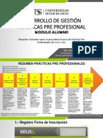 Desarrollo de Gestion Prácticas Pre Profesional Alumno