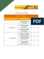 Agenda de Actividades ipn
