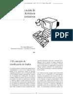 Clasificacion de Fondos Archivisticos Administrativos