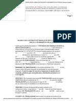 """Modelo de Contrato de Trabajo Sujeto a Modalidad Por Inicio o Incremento de Actividad Conste Por El Presente Documento El """"Con"""