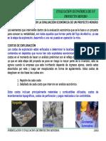 Formulación y Evaluación de Un Proyecto Minero.
