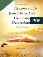 2017-1216PM the Generation of Jesus Christ and His Living Descendants Nairobi