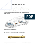 Propeller Shafts Joints and Axle