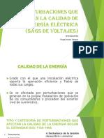 Perturbaciones en La Calidad de La Energía Diapositivas