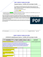 Iso 9k 2008 to 2015 Gap Checklist Fdis Sample
