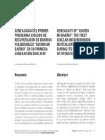 """Genealogía del primer programa chileno de recuperación de barrios vulnerables """"Quiero mi Barrio"""" en su primera generación 2006-2010"""