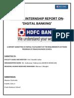 Summer Internship Report on DIGITAL BANKING- HDFC Bank Ltd.