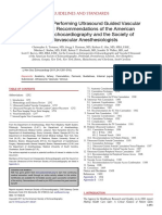 Guidelines for Performing Ultrasound Guided Vascular Cannulation- Recommendations of the American Society of[4494]