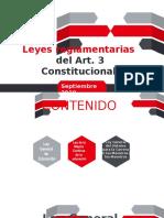 leyes reglamentarias Nueva Reforma Educativa 2019