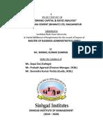 WORKING CAPITAL & RATIO ANALYSIS  AT DALMIA CEMENT (BHARAT) LTD