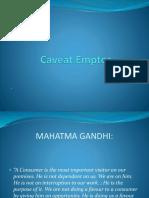 Caveat Emptor Ppt presentation Satyam Ojha