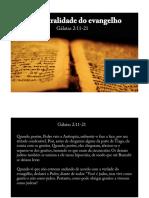Centralidade do Evangelho