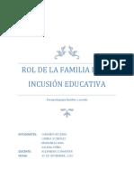 Rol de La Familia en La Inclusión Educativa