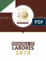 Memoria de Labores 2018