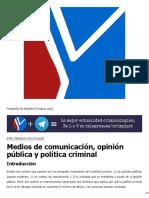 Medios de comunicación, opinión pública y política criminal