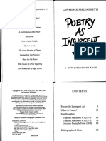 [Beat] Lawrence Ferlinghetti - Poetry as Insurgent Art (0, A New Directions Book)