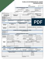 Planilla de Aperturas de Cuentas