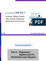 Econometrics I 5