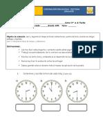 Evaluación Parcial 3 La Hora y Calendario