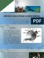 Métodos Para Estimar La Biodiversidad