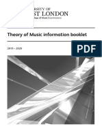 Theory of Music Information Booklet