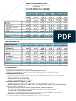 Tuition Fee Schedule 2019 2020