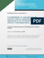 LA COMPLEJIDAD Y LOS NUEVOS VALORES EPISTÉMICOS