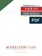 Makelsan Ups Powerack Plus Series 1 3 Kva User Manual En