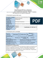 Guía de actividades y rúbrica de evaluación - Fase 2 - Estudios de Evaluación de Impacto Ambiental