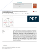 Air- And Oxygen-blown Characterization of Coal and Biomass By