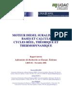 Moteur diesel suralimenté bases et calculs cycles réel, théorique et thermodynamique.pdf