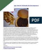 Un Mes Con Las Happy Meal de McDonalds Sin Descomponerse