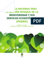 Política Nacional Biodiversidad