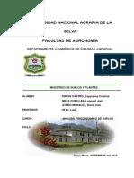 Informe de muestreo de suelos