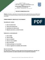 Proyecto Democracia 2019 Sede b j.m.