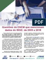 Questões Enem que mencionam dados do IBGE