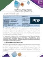 Syllabus de La Diplomatura E-Mediador en AVA