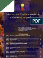 Introducción, Clasificación Materiales y Propiedades