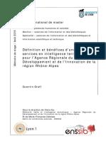67248 Definition Et Benefices d Une Offre de Services en Intelligence Territoriale Pour l Agence Regionale Du Developpement Et de l Innovation de La Region Rhone Alpes