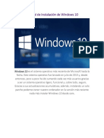Manual de Instalación de Windows 10