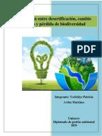 Interrelación Entre Desertificación