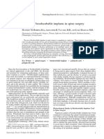 [10920684 - Neurosurgical Focus] The use of bioabsorbable implants in spine surgery.pdf