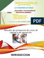 MÉTODOS DE ESTIMACIÓN DE COSTOS