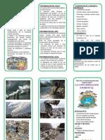 Triptico de Contaminacion Del Medio Ambiente