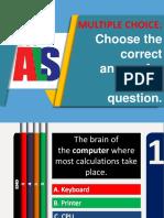 Parts of the Computer Quiz
