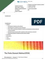 Finite Element Method (FEM)_Comsol