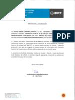 Disertación, Oscar Adrián Campaña Espinoza