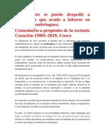 Comentario de La Casación 15001-2018, Cusco